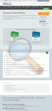 Access Control Policy Template English preview. Click for more details