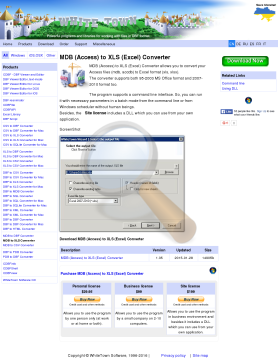 Access Excel Converter Personal License preview. Click for more details