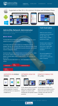 Adminzilla Network Administrator Educational Site License preview. Click for more details