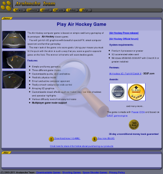 Airhockey Full Version preview. Click for more details