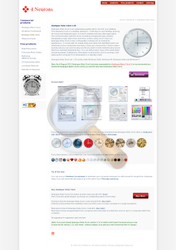 Analogue Vista Clock Business License preview. Click for more details