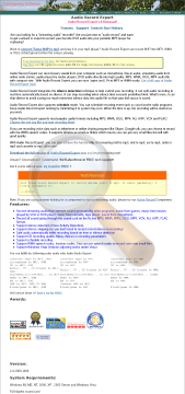 Audio Record Expert Site License preview. Click for more details