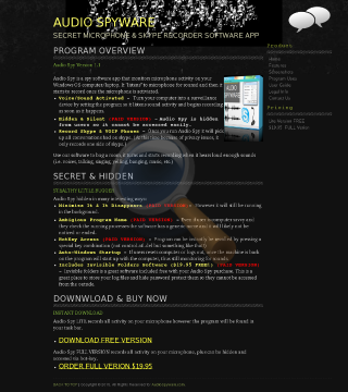 Audio Spyware Promotion preview. Click for more details