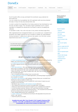 Doneex Xcell Compiler Business License preview. Click for more details