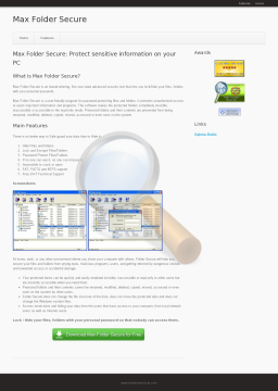 Folder Secure Full Version preview. Click for more details