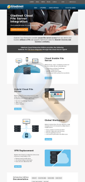 Gladinet Cloud Desktop Professional Edition Home preview. Click for more details