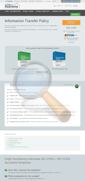 Information Transfer Policy Template English preview. Click for more details