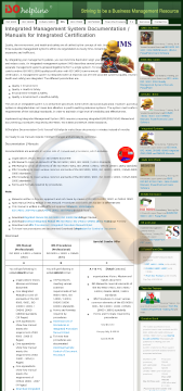 Integrated Ohsas Manual Procedure Professional Version preview. Click for more details