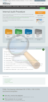 Internal Audit Procedure Template English preview. Click for more details