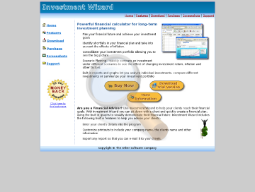 Investment Wizard Personal Edition preview. Click for more details