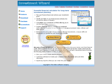 Investment Wizard Professional Edition preview. Click for more details