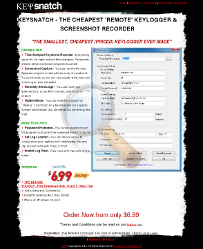 Keysnatch Keylogger Full Version preview. Click for more details