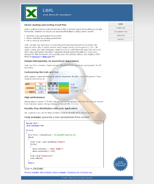 Libxl Site License Windows preview. Click for more details