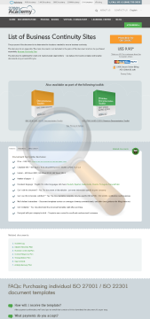 List Business Continuity Sites Template English preview. Click for more details