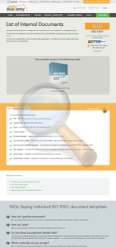 List Internal Documents Template English preview. Click for more details