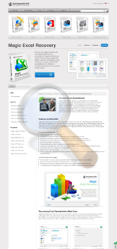 Magic Excel Recovery Home Edition preview. Click for more details