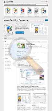 Magic Partition Recovery Commercial Edition preview. Click for more details