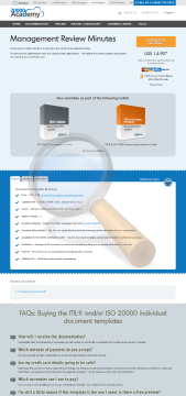 Management Review Minutes Standard Version preview. Click for more details