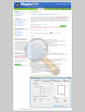 Maplepdf Full Version preview. Click for more details