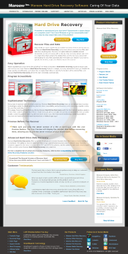 Mareew Hard Drive Recovery Professional License preview. Click for more details