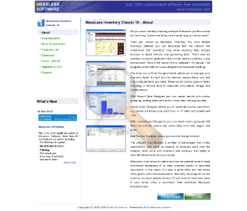 Messless Inventory Classic Full Version preview. Click for more details