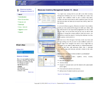 Messless Inventory Management System Full Version preview. Click for more details