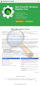 Registry Cleaner preview. Click for more details