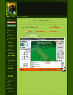 Session Planner Soccer Software preview. Click for more details
