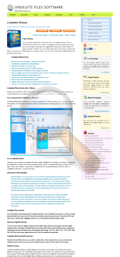 Undelete Wizard Standard License preview. Click for more details