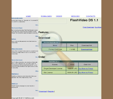 Vidfilters Flashvideo Site License preview. Click for more details