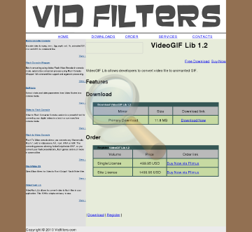 Vidfilters Videogif Site License preview. Click for more details