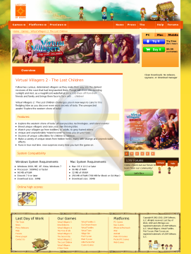 Virtual Villagers Lost Children Full Version preview. Click for more details