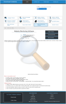 Website Monitoring Tool Full Version preview. Click for more details