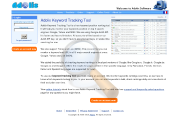 Adolix Keyword Tracking Tool Premium Service Plan Monthly Subscription preview. Click for more details