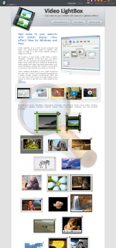 Video Lightbox Single Website preview. Click for more details
