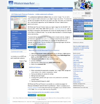 Watermark Pictures Protector Watermarking Tools preview. Click for more details