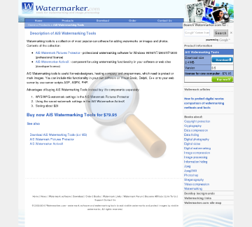 Watermarking Tools Full Version preview. Click for more details